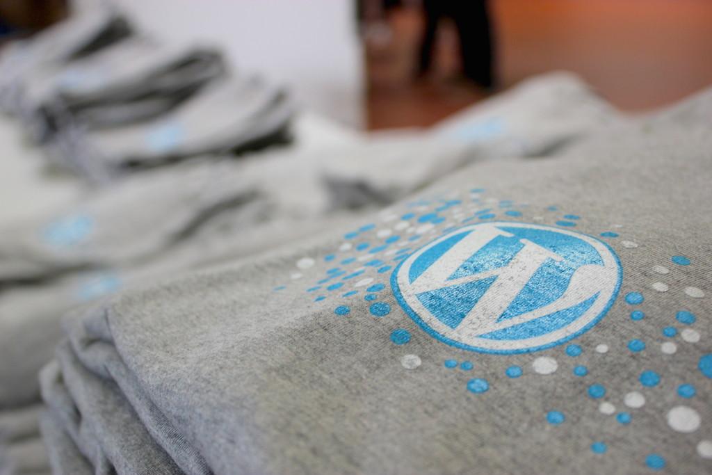 Die WordCamp T-Shirt waren sehr liebevoll gestaltet und in ausreichenden Mengen vorhanden.