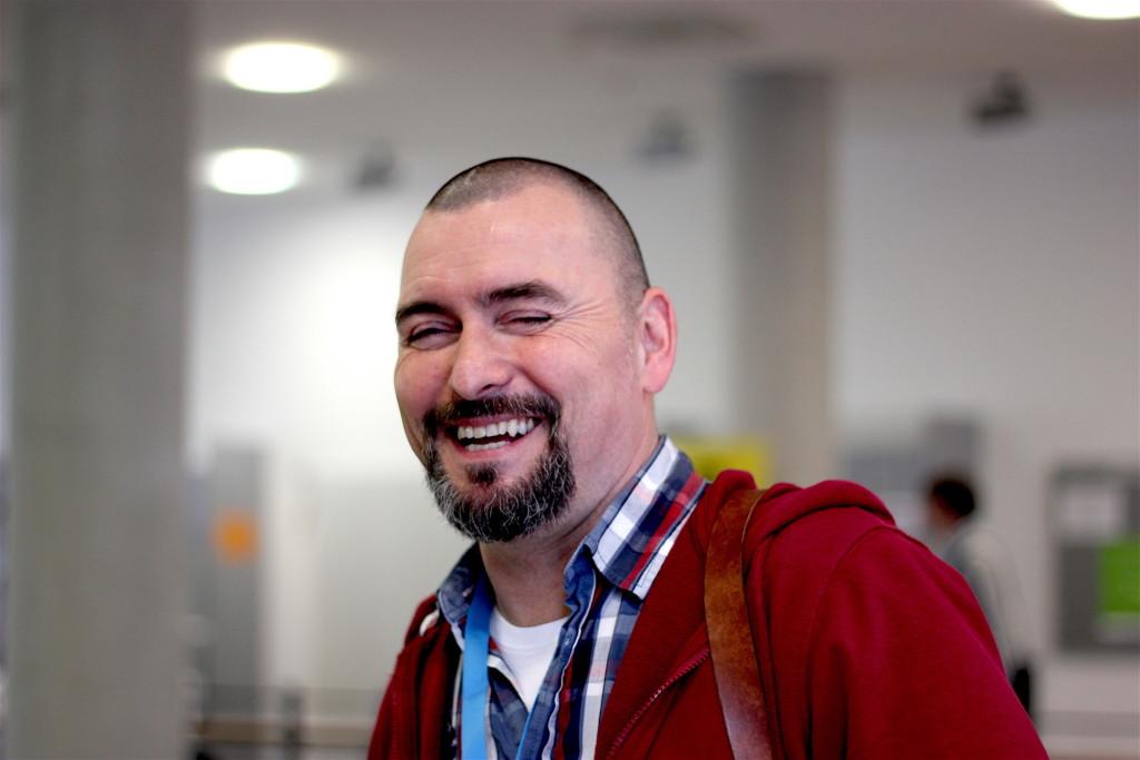 Viele lachende Gesichter. Das WordCamp Nürnberg kam bei den Teilnehmern sehr gut an!